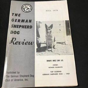 German Shepherd Dog Review July 1970 Collectible